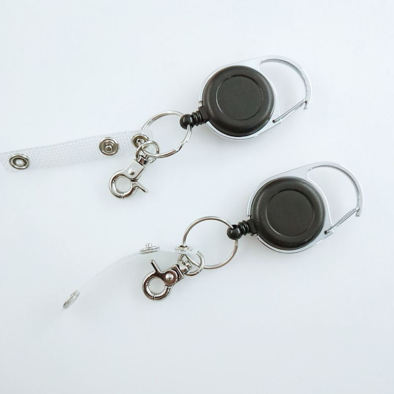 Hot Multifunctional Retractable Pull Key Ring Chain Reel ID Lanyard Name Card Badge Holder Reel Extendable Belt Key Ring Clip