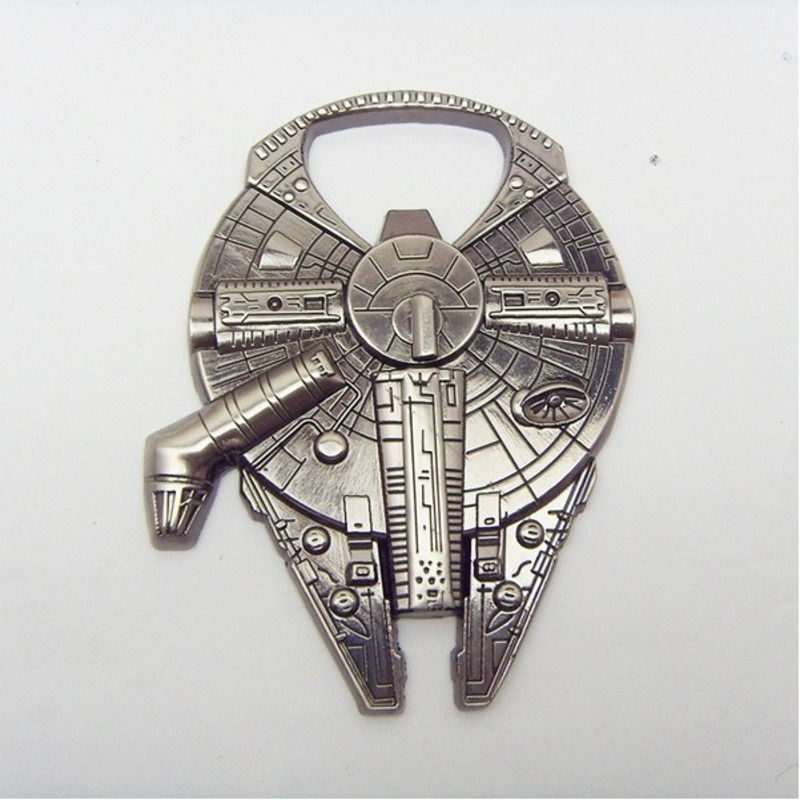 Creative Star Wars Millennium Falcon Metal Alloy Spacecraft Shaped Beer Bottle Opener Pendant Cosplay Accessories