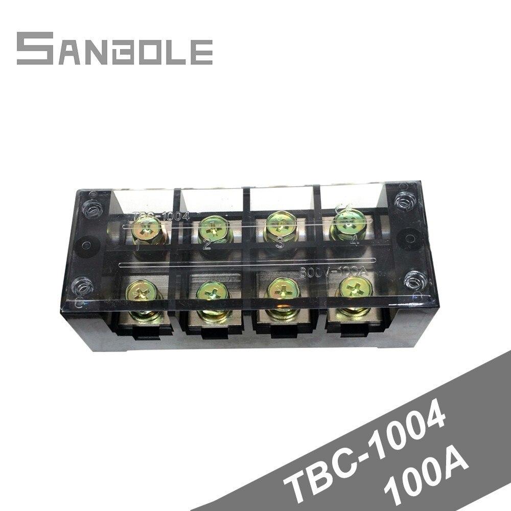 Terminal Bloğu TBC 1004/TB 1004 Sabit Tip 100A 600 V 4 Pozisyon 0.5 25mm2 Bağlantı Elektrik Bakır|Terminaller|   -