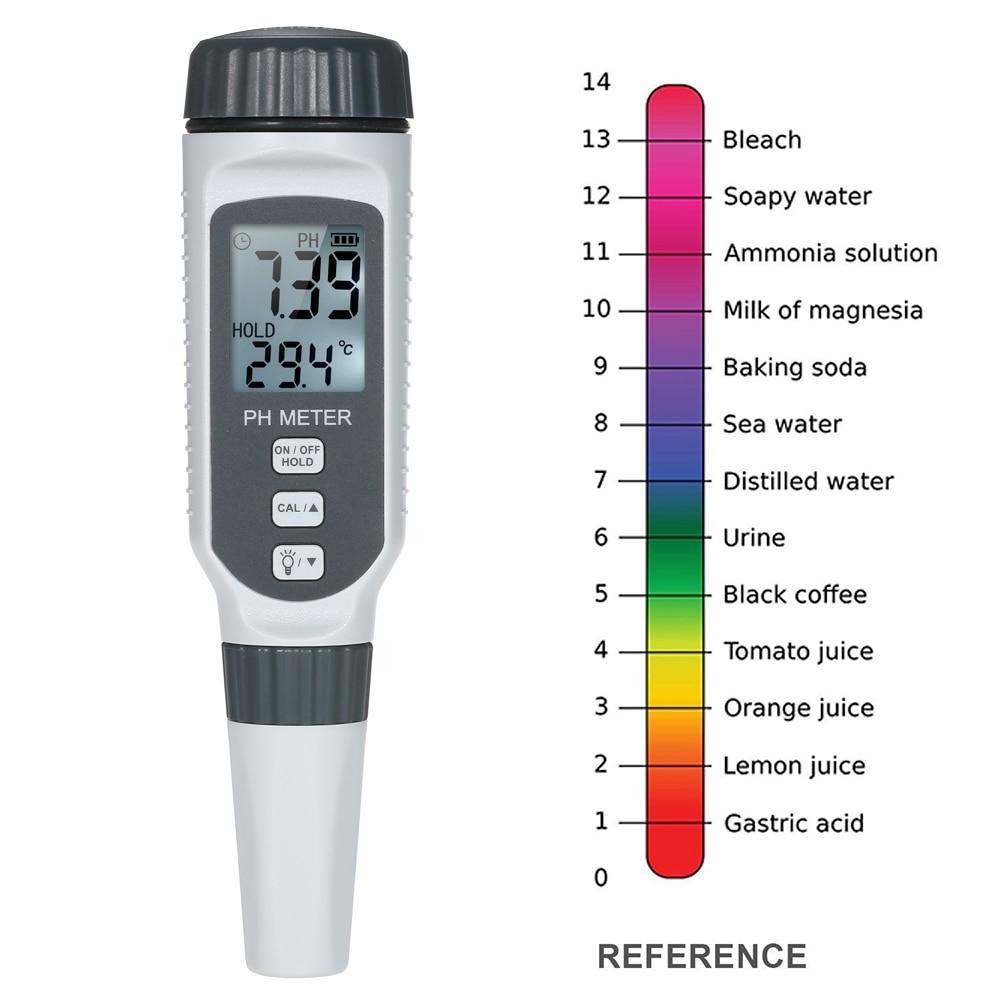 Portable 3in1 Waterproof High Precision Digital LCD PH Pen Meter Acidometer Tool
