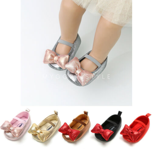Toddler Baby Girl Shoes Kids Girls Flats Shoes Wedding Princess Party Shoes PU Leather Shoes