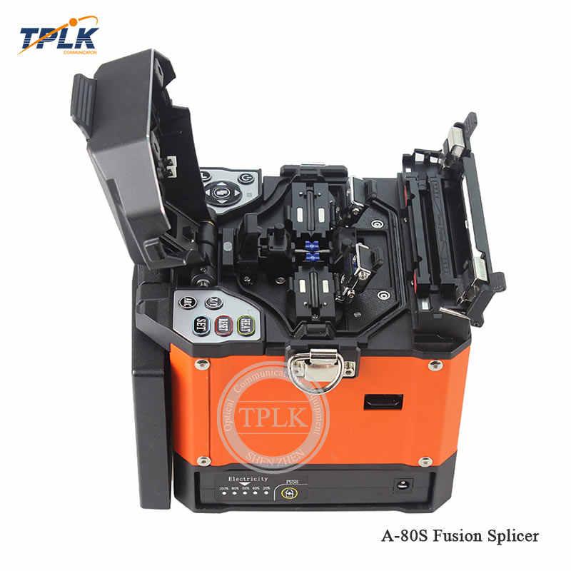 A-80S оранжевый автоматическая интеллектуальная слияние оптических волокон Splicer A-80S FTTH устройство для термического сращивания Волоконно-оптический Сращивание машины