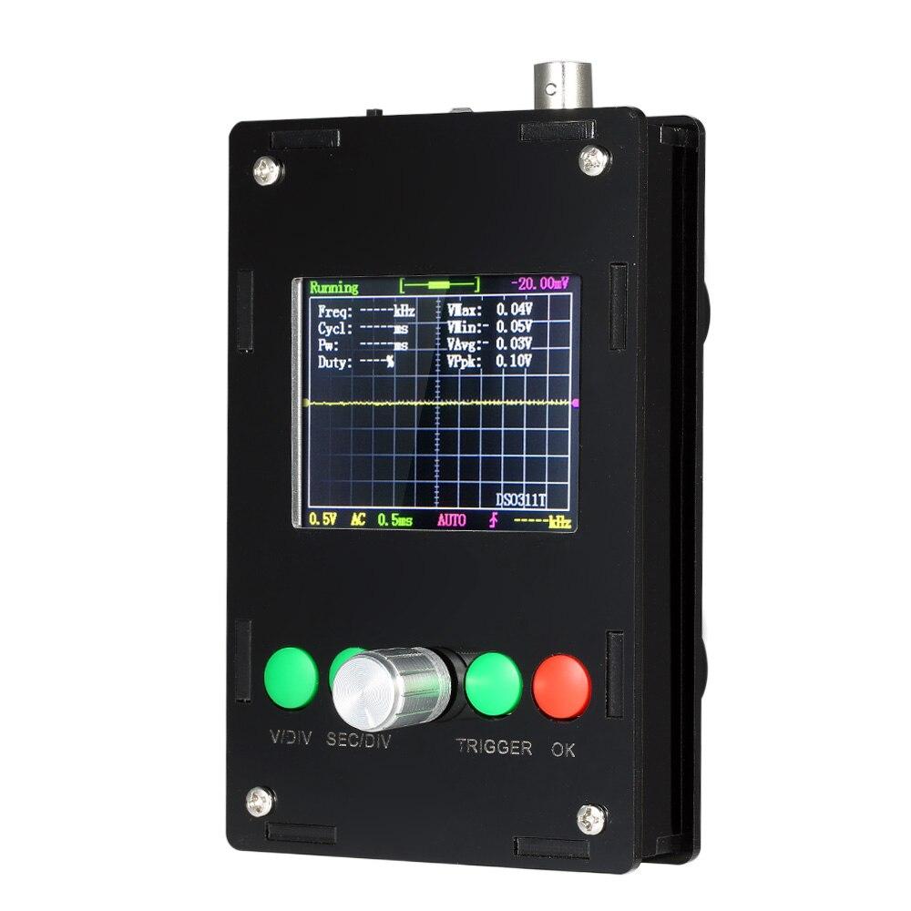DC 9V 200mA DSO311 Mini DIY Kit Digital Oscilloscope 1MSPS 2.4 TFT LCD STM32 12-Bit ProbeDC 9V 200mA DSO311 Mini DIY Kit Digital Oscilloscope 1MSPS 2.4 TFT LCD STM32 12-Bit Probe