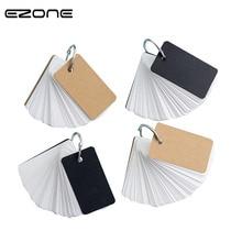 купить EZONE Blank Thick Memo Pad Creative Ring Binder Portable Notepad Iron Mini Notebook Office Memo Black/Brown Cover Notes Book по цене 119.66 рублей