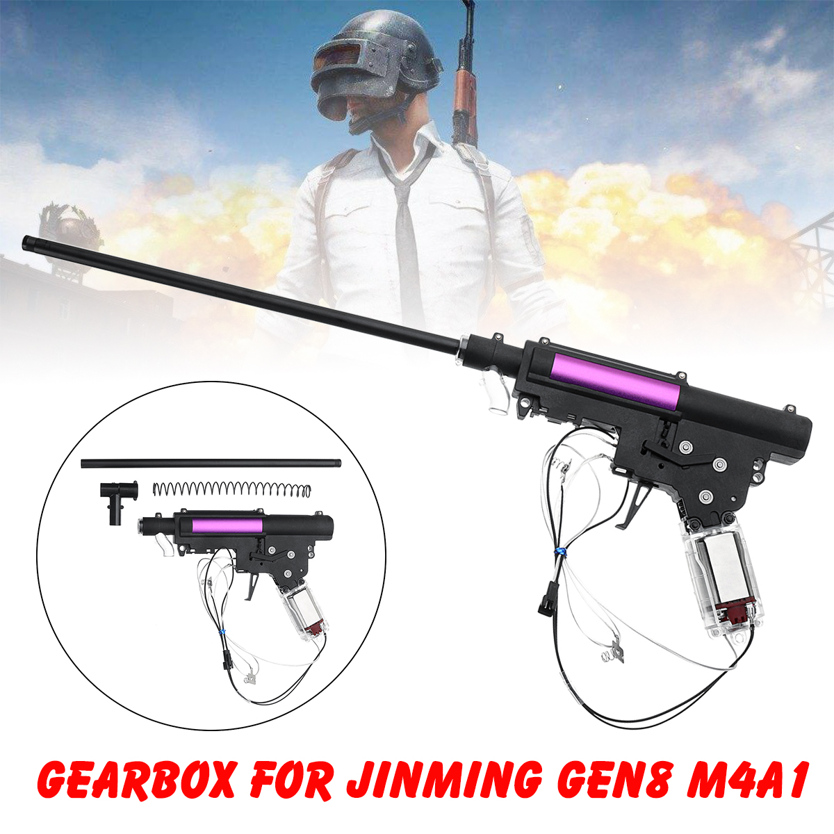 Atualizar caixa de Engrenagens de Nylon Acessórios Para JinMing Gen8 M4 M4A1 Gel Bola Brinquedo Chirldren Brinquedo DIY