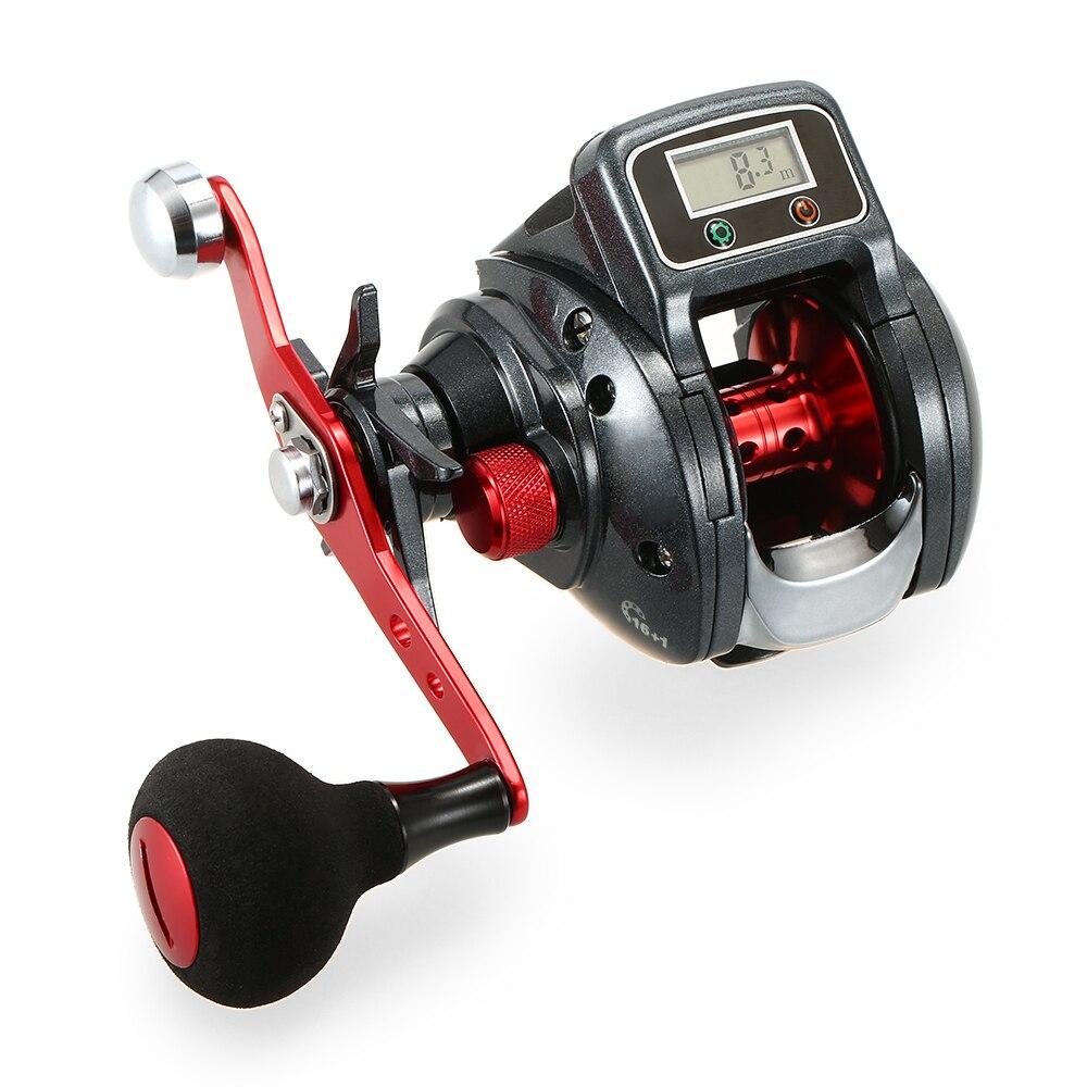 Lixada 13 1 Ball Bearing Left Right Fishing Reel with Digital Display Baitcasting Line counter Reel