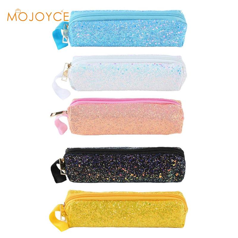 Sequins Glitter Cosmetic Bags Double Color Sequins Handbag Cosmetic Bag Makeup Pouch Women Storage Bags Party Clutch Bags 2019