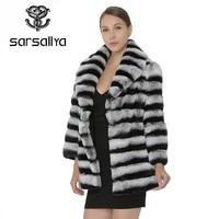 SARSALLYA Для женщин натурального меха кролика Rex пальто с натуральным мехом зимняя куртка Для женщин пальто с верхняя одежда с подлинной Outcoat