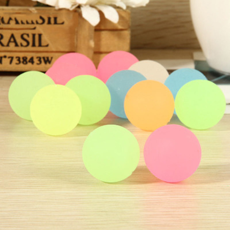 10Pcs/lot Glow In The Dark Bounce Balls Funny Toys For Children Outdoor Game Bouncing Ball Toy