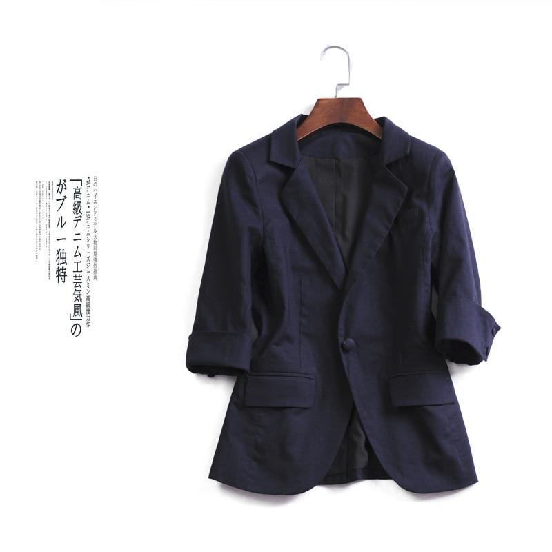 TITOTATO New Plus Size Clothes Solid Women Suit 2019 Traje De Las Mujeres Single Button Coat Blazer A Rayas Chaqueta Office Lady