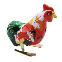 Clockwork Toy Wind-Up-Toy Funny Metal Vintage Cock Kid Animal Unisex Gift Early-Educational