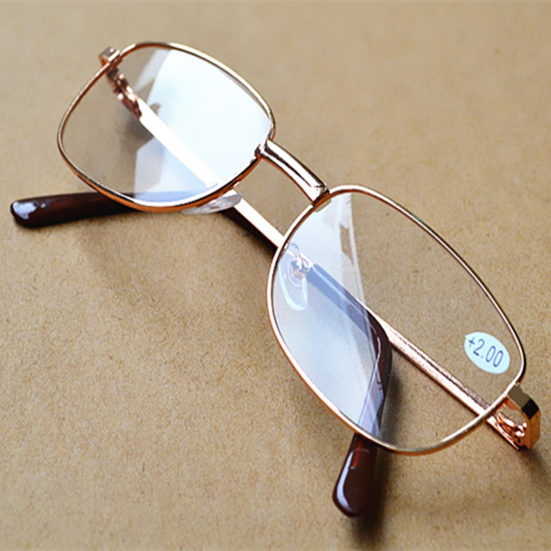 Zilead Metal Frame Reading Glasses Relieve Visual Fatigue Presbyopic Glasses TR90 Materia Ultralight Simple Parents Eyeglasses