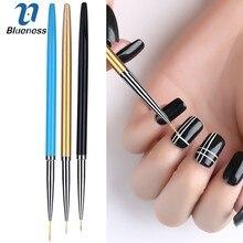 Blueness 3pcs/set Metal Glitter Nail Paint Painting Striping Brush Manicure Tools Rod Gel Nail Art Pencil Drawing Dotting Tools