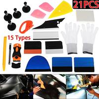 21Pcs Window Tint Tool Kit Vinyl Car Wrap Stickers Tool Set Auto Car Accessories Scraper for Razor Glove Magnets Universal