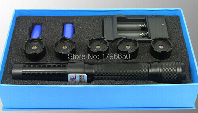 HOT! Powerful 450nm 500000m 500W Strong power Military blue laser pointer LED burn match candle lit cigarette wicked Lazer Torch high power military 450nm blue laser pointer 60000mw flashlight burn match candle lit cigarette wicked lazer torch 5 caps glass