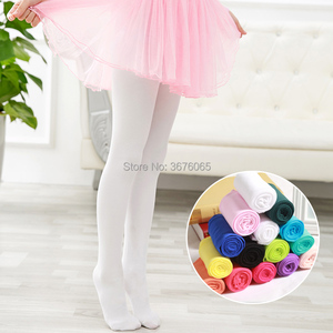 Spring/autumn candy color children tights for baby girls kids cute velvet White pantyhose stockings for Ballet dance girl tights