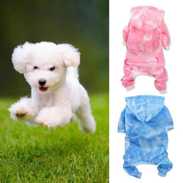Дождевик для маленьких собак водонепроницаемый с капюшоном Одежда для собак четыре ноги пончо дождевая куртка защитные комбинезоны рубашка для собаки xs-xl