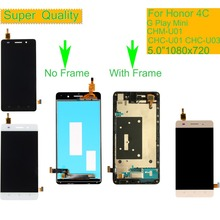 10Pcs/lot For Huawei Honor 4C LCD CHM-U01 G Play Mini CHC-U01 CHC-U03 LCD Display Touch Screen Digitizer Assembly With Frame