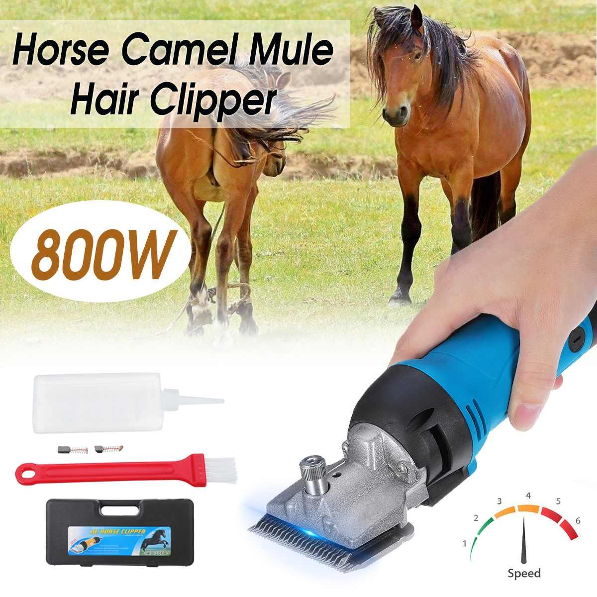 800W 6 Speed Electric Horse Hair Clipper Farm Animal Shearing Trimmer Shaver Cut Machine for Camel Cow Horse Goat AU Plug w/Box|Scissors| |  - title=