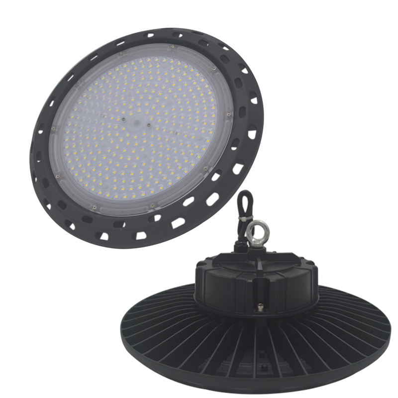 Led Lighting Workshop Circular Illumination LED Industrial Lighting UFO High Bay Light Warehouse Garage IP65 Ceiling Light