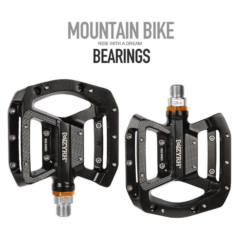 Bicycle Pedals Platform Aluminum Alloy Mountain Road Bike Bearing Pedals Riding Bike Accessories|Bicycle Pedal| |  - title=