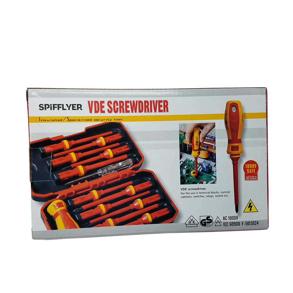 13pc Dual Purpose Insulated Electrician Screwdriver Set Tool Electrical Fully Insulated High Voltage Multi Screw Driver Tool Kit