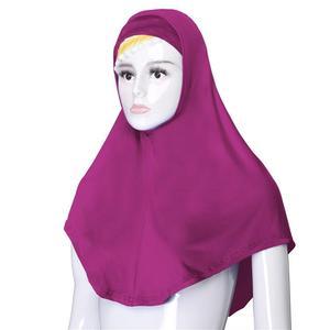 Image 4 - 2 pçs chapéu de oração muçulmano feminino sob lenço hijab niquabs lenço islâmico turbante macio ninja cor sólida médio oriente chapéu 76*68 cm