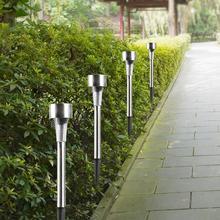 Lampe de pelouse solaire Led en acier inoxydable, imperméable conforme à la norme IP65, éclairage dextérieur, luminaire de paysage, idéal pour un jardin, 10 unités/lot