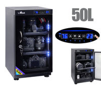 Upgrade Touch Screen Digital Dehumidify Dry Cabinet Box For SLR Camera Lens 50L
