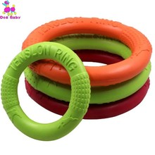 Dog Flying Discs Pet Ring Shape EVA Chew Toy Biting Teeth Clean Floating Puppy Funny Playing Training Supplies Random