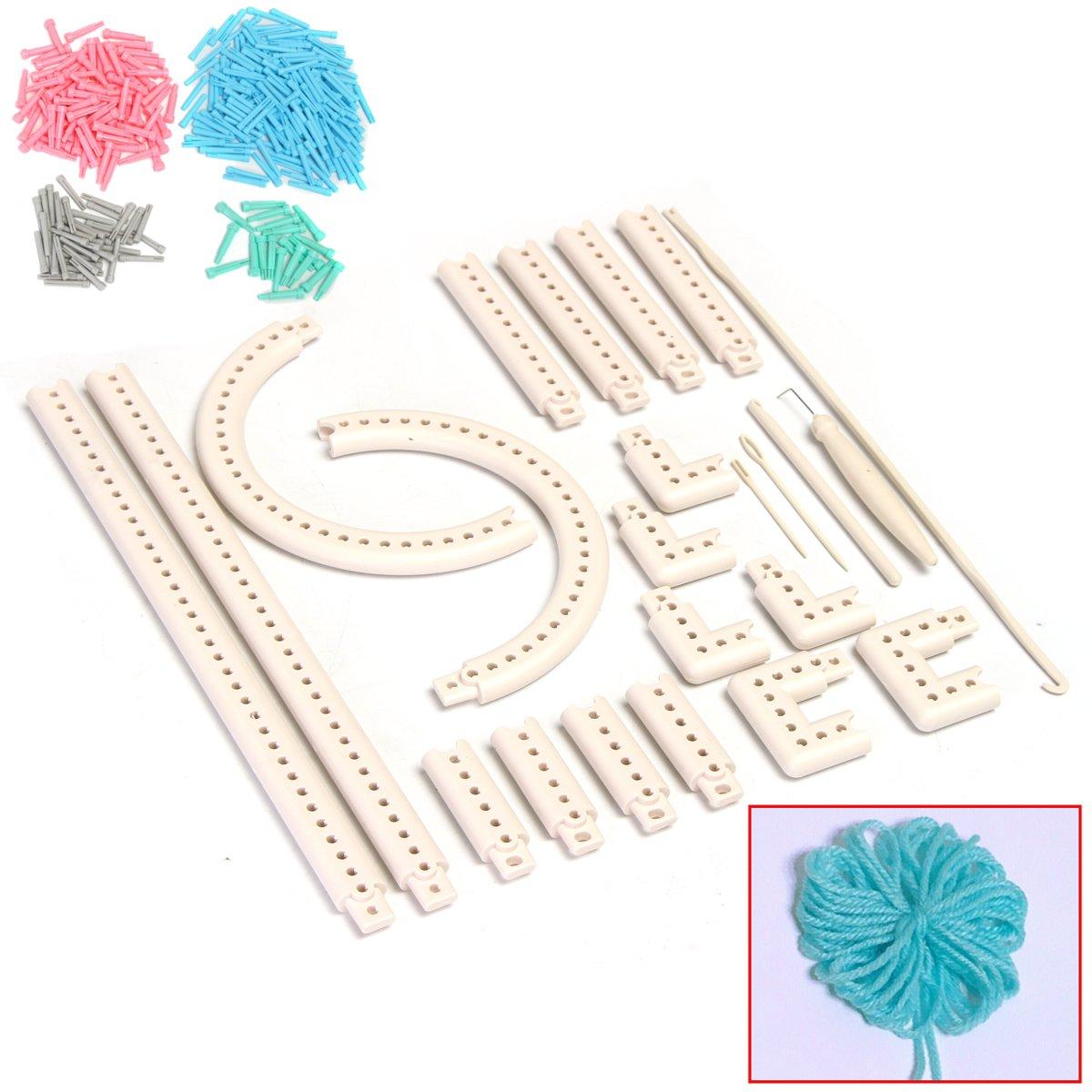 5000-100 Knitting Multi-function Knitting Board Knit&Weave Loom Craft Yarn Kit DIY Scarf Sweater