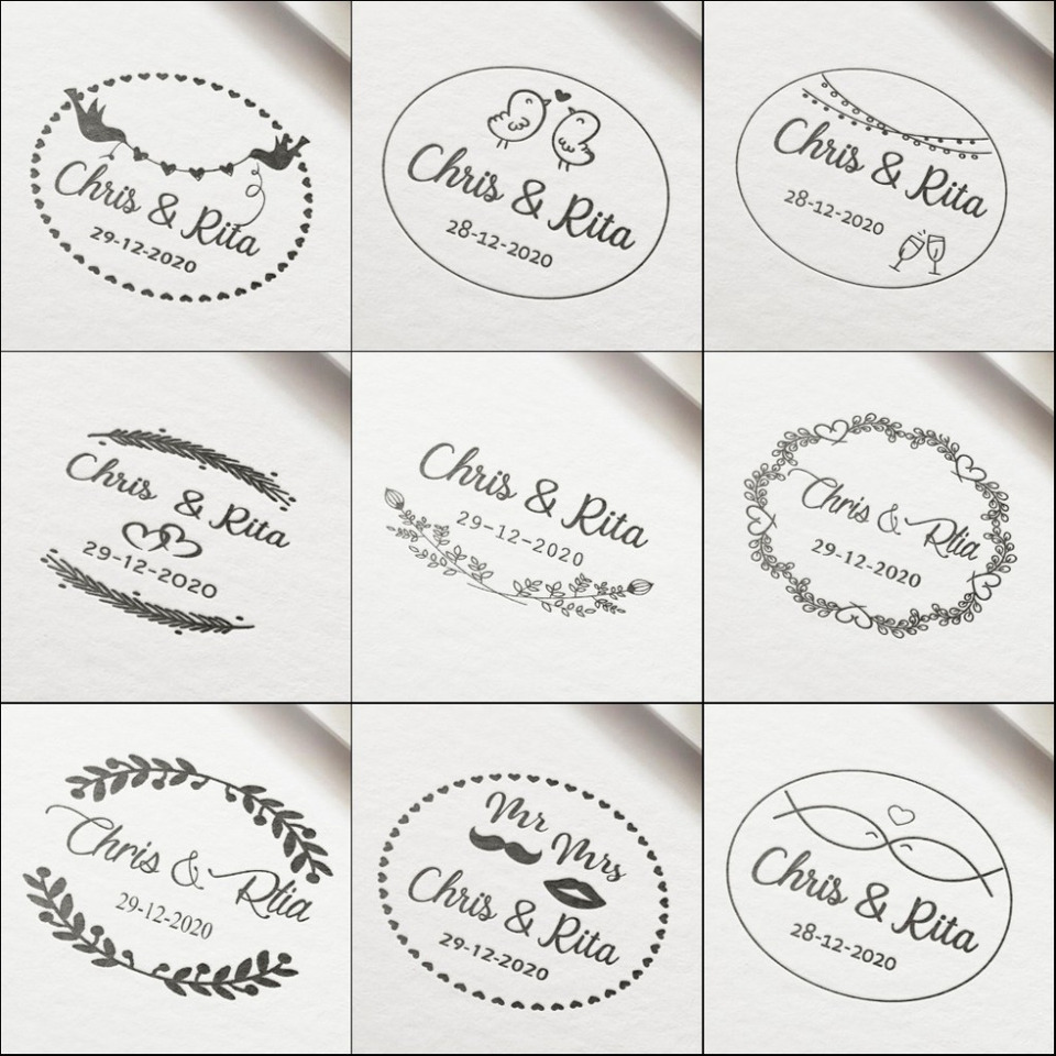 Personalized Wedding Invitation Stamp