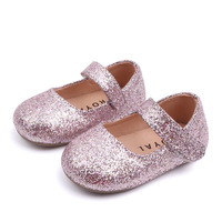 Kids Shoes 2019 Spring Glitter Toddler Baby First Walkers Shiny Birthday Party Girls Princess Shoe 1 2 years