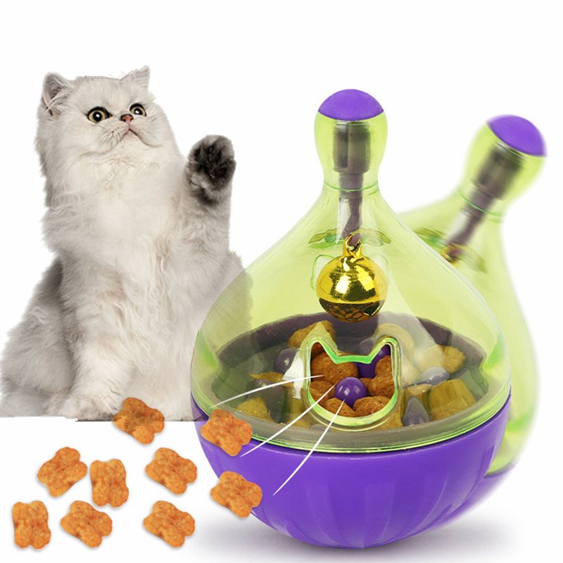 Interactive Dog Cat Food Treat Ball Bowl Toy Funny Pet Shaking Leakage Food Container Puppy Cat Slow Feed Pet Playing Toys