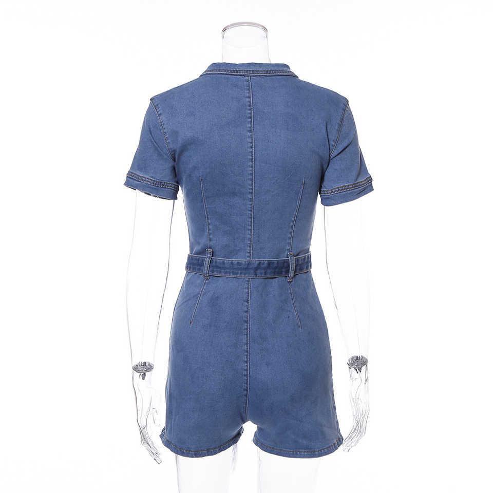 Karlofea женские сексуальные джинсы комбинезоны весенние наряды короткий комбинезон стрейч джинсовый клубный Облегающий комбинезон повседневный комбинезон одежда