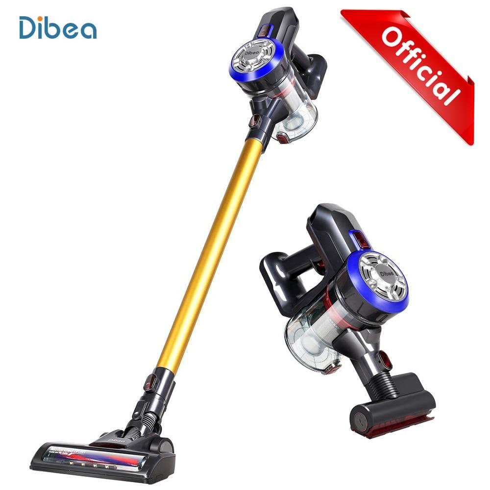 Dibea D18 2 Em 1 Protable Handheld Sem Fio Aspirador de pó Ciclone Filtro 8500 Pa Forte Sucção Coletor de Pó Aspirador