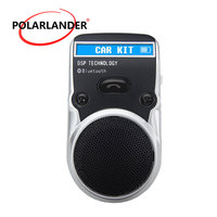 Handsfree Speakerphone Wireless AUX Receiver Bluetooth Car Kit Free Adapter LCD Display Solar Power For Cigarette Lighter USB
