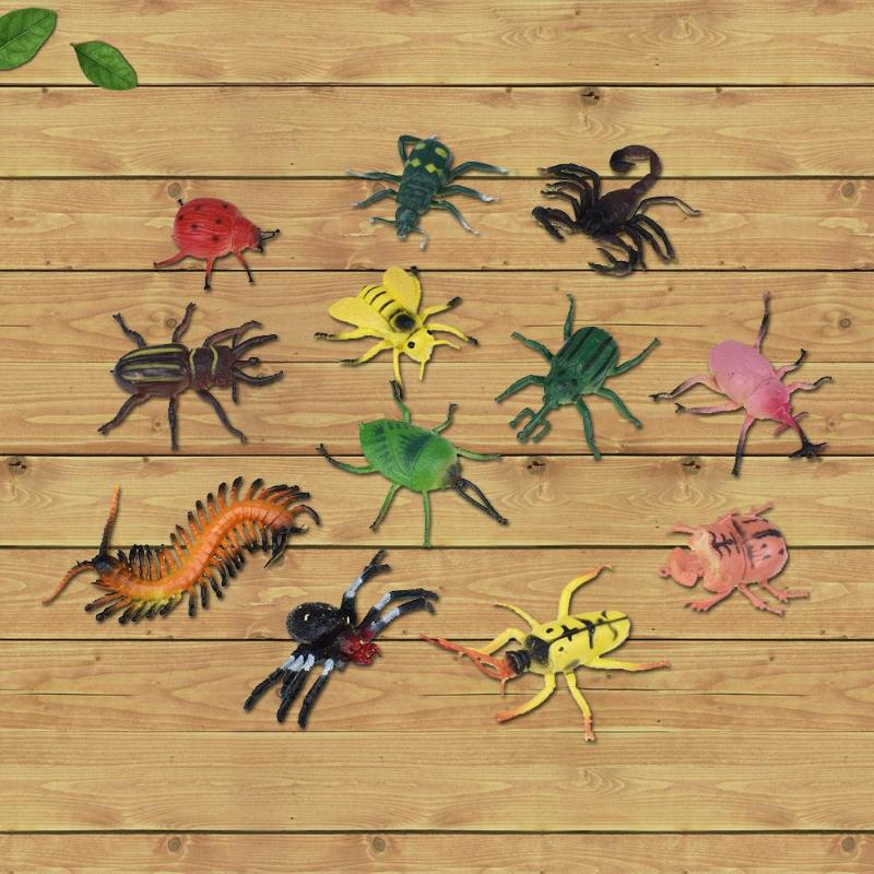Hearty 12pcs/set 5-10cm Mini Plastic Pvc Simulation Insect Model Animal Toys Funny Spider Gag Toys Decor Props For Children Kids Toys Toys & Hobbies