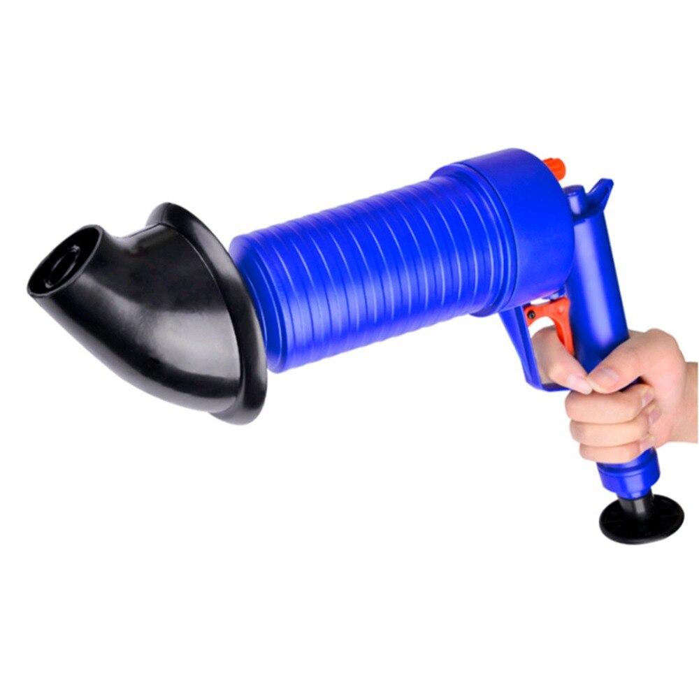Envío de la gota de la casa de aire de alta presión de drenaje Blaster bomba de émbolo pipa fregadero obstruir removedor de baños baño cocina limpiador Kit 40