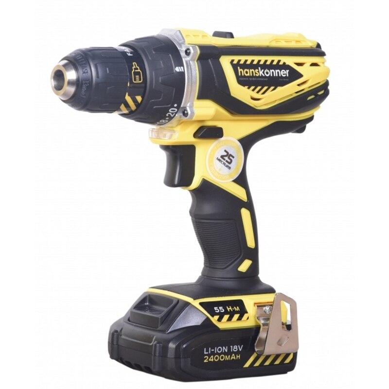 Drill driver battery Hanskonner HCD1838R
