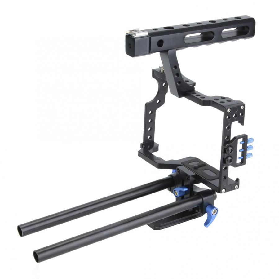C6 Cage Kit Top Handle Grip Stabilizer for Sony A6000 A6300 A6500 A6400 Mirrorless Camera V BESTLIFE Camera Cage