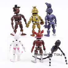 FNAF Five Nights at Freddy's Nightmare Freddy Chica Bonnie Funtime Foxy PVC Action Figures Toys 6pcs/set