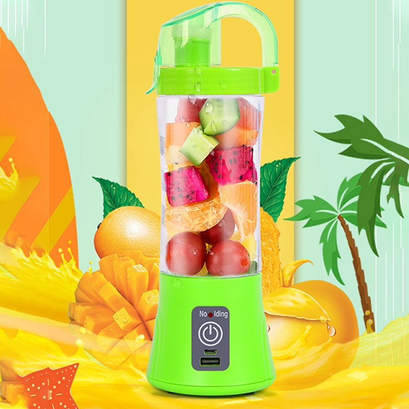 380ml Portable Blender Juicer Cup USB Rechargeable Electric Automatic Vegetable Fruit Citrus Orange Juice Maker Cup Mixer Bottle
