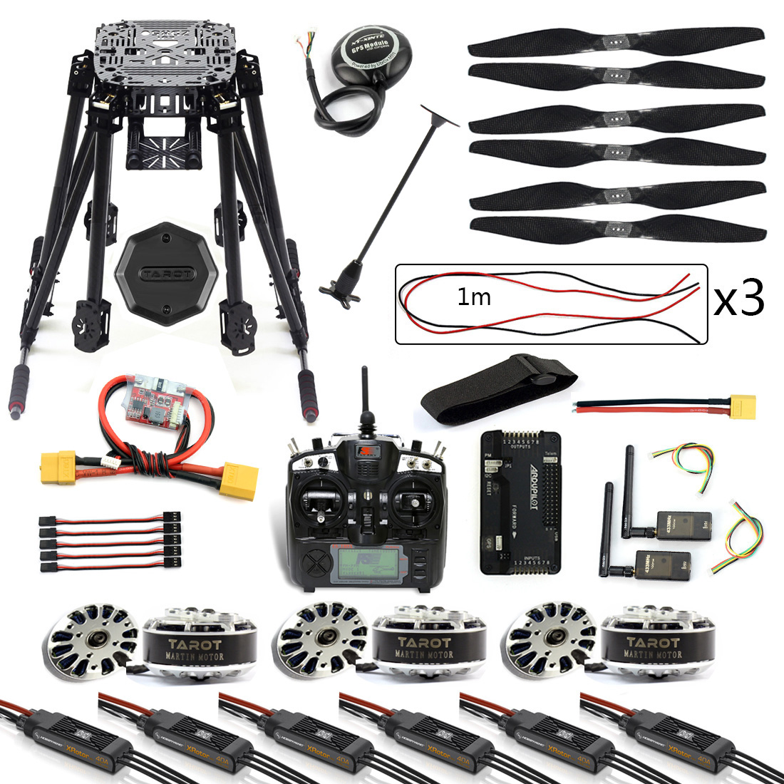 DIY 6-Axle ZD850 Frame Kit <font><b>APM</b></font> <font><b>2.8</b></font> Flight Controller M8N GPS 3DR MHz Telemetry Flysky TH9X TX Motor ESC RC Hexacopter F19833-C image