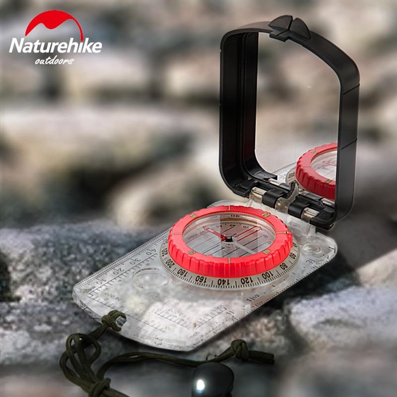 NatureHike светодиодный световой компас с зеркалом прочный Анти-шок стабильный водонепроницаемый Треккинговый многофункциональный компас