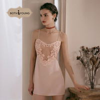 Bothyoung Sexy LIngerie Nightdress Floral Strap Lace Nightgown Sleepwear Nightwear Sling Backless