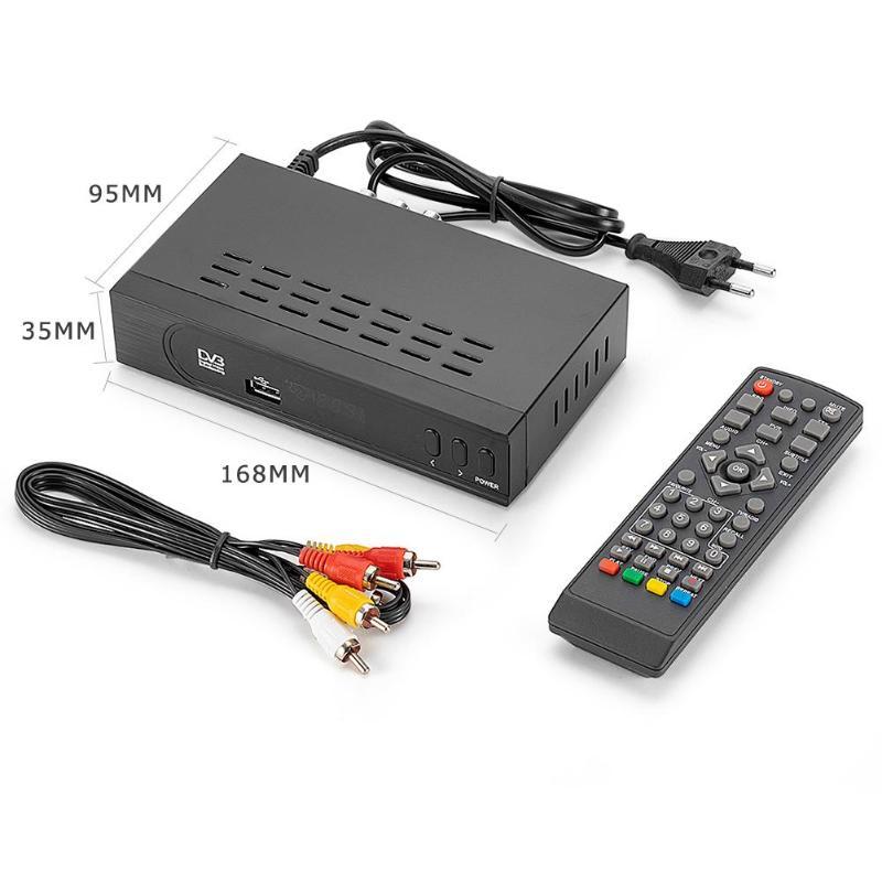 EU Stecker Mini android tv box DVB-T/T2 TV Empfänger 3D Digital Video Terrestrischen HD 1080P 32MB H 2,64 TV Set-top Box