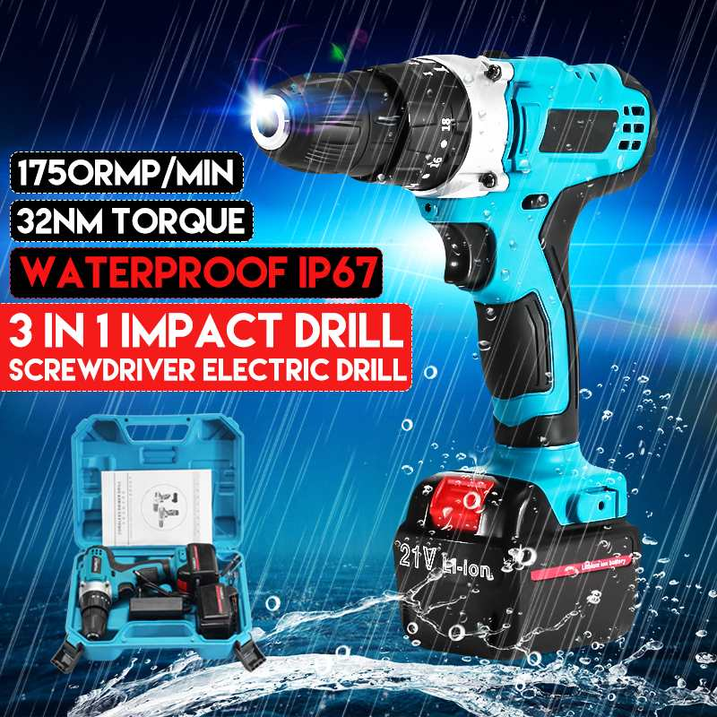 Rechargeable Lithium Battery Cordless Electric Drill Bit 21v 3modes Electric Screwdriver Torque Screw for Gun Power Tools DrillRechargeable Lithium Battery Cordless Electric Drill Bit 21v 3modes Electric Screwdriver Torque Screw for Gun Power Tools Drill