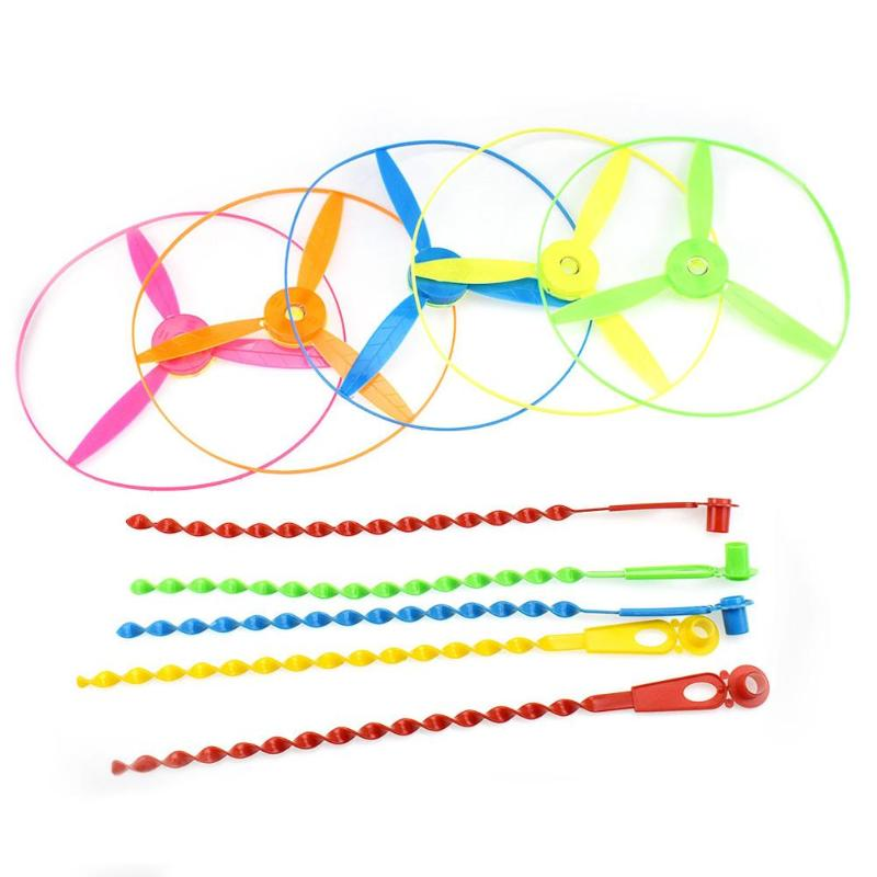 Children Outdoor Flying Saucer Bamboo Dragonfly Plastic Helicopters Toy