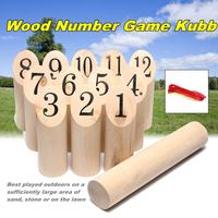 Wood Number Kubb Set Wooden Game Kubb Shotting Viking Outdoor Garden Yard Lawn Game Toys Family Sports Kit Children Gifts